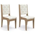 Kit 2 Cadeiras Cad103 para Sala de Jantar Nogal/bege Árvore - Kappesberg