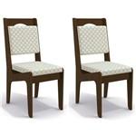 Kit 2 Cadeiras Cad105 para Sala de Jantar Walnut/bege Plátano - Kappesberg