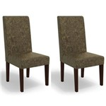 Kit 2 Cadeiras Cad110 para Sala de Jantar Walnut/corino Marrom - Kappesberg