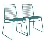 Kit 2 Cadeiras Couríssimo Carraro 1712 Turquesa