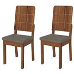 Kit 2 Cadeiras Dama para Sala de Jantar Dama Terrara/bronze - Dj Móveis