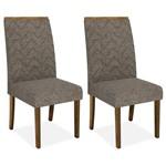 Kit 2 Cadeiras de Jantar, Demolição, Linho Bronze, Naomi