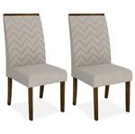 Kit 2 Cadeiras de Jantar, Rústico Malbec, Pena Bege, Naomi