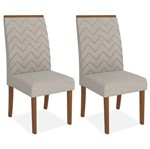 Kit 2 Cadeiras de Jantar, Rústico Terrara, Pena Bege, Naomi