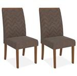 Kit 2 Cadeiras de Jantar, Rústico Terrara, Pena Marrom, Naomi