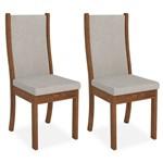 Kit 2 Cadeiras de Jantar, Rústico Terrara, Pena Pege, Lívia