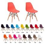Kit 2 Cadeiras Eiffel Eames Dsw Base Madeira Várias Cores - (rose)