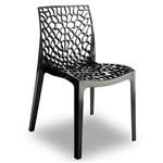 Kit 2 Cadeiras Gruvyer em Polipropileno Preta