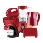 Kit Cadence Colors Completo Pra Sua Cozinha - Vermelho 127 V