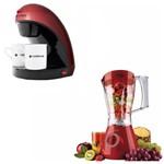 Kit Cafeteira Elétrica + Liquidificador Cadence Vermelho 127V/220V