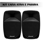 Kit Caixa Oneal 15 Bluetooth OPB-1115BT-PT e Passiva OB-1115-PT