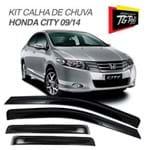 Kit Calha de Chuva Honda City 2009 a 2013 4 Portas Fumê TG Poli