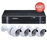 Kit Câmeras de Segurança 4 Câmeras Ahd Jortan + Dvr Intelbras Mhdx 1004