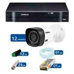 Kit Câmeras de Segurança- Intelbras 16Ch Tríbrido HDCVI+12Câmeras Bullet HDCVI Intelbras HD VHD3120B