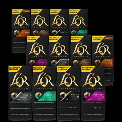 Kit Cápsulas de Café L'or 12 Unidades