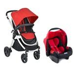 Kit Carrinho de Bebê Burigotto Soul Até 15kg Vermelho/preto + Bebê Conforto Touring Evolution Red