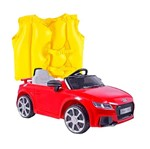 Kit Carro Elétrico Audi TT RS + Colete Boia Inflável Infantil 1822- Mor- Amarelo<BR><BR> Kit Carro Elétrico Audi TT RS - Bel Brink + Colete Boia Inflável Infantil Amarelo- 1822- Mor<BR><BR>