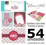 Kit Cartões para Scrap Momentos By Ivana Madi - Amor