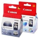 Kit Cartucho Canon Pg 10 Preto Cl 11 Colorido Original