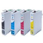 Kit Cartucho de Tinta Compatível Epson To901 Preto, To732 Ciano, To733 Magenta e To734 Aamrelo