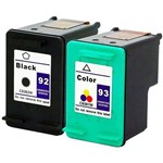Kit Cartucho de Tinta Compatível Hp 92 1510 C3180 1507 5440 C3100 D4100 2570 Psc1510 3180