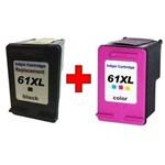 Kit 2 Cartuchos de Tinta Similares HP 61XL Preto e Colorido Compatíveis HP Deskjet 1000 1010 1050 1055 1051 2000 2050 2500 2540 3000 3054A Séries