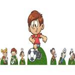 Kit Cenário Display de Chão e Mesa Futebol Crianças 7 Peças