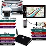 Kit Central Multimidia Evolve Light + Mirror + Câmera de Ré