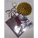 Kit Cesta Marrom C/ Dourado