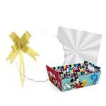 Kit Cesta Presente Mickey Disney Azul Festas 27x18,5 Cm