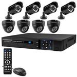 Kit CFTV Powerpack DVR-CA088.KIT DVR de 8 Canais com 8 Câmeras AHD Dome e Bullet