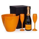 Kit Champagne Veuve Clicquot Ponsardin Brut 750ml + 1 Geleira e 2 Taças