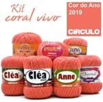 Kit Círculo Coral Vivo - a Cor do Ano 2019