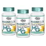Kit 3 Cloreto de Magnésio P.A Unilife Magneclor 120 Cápsulas