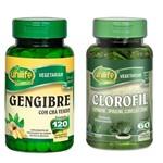 Kit Clorofil e Gengibre com Chá Verde Unilife
