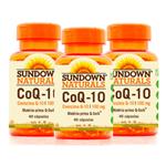Kit 3 Coenzima Q10 100mg Sundown 40 Cápsulas