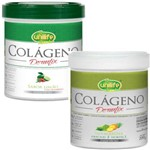 Kit Colágeno Hidrolisado em Pó Dermfix Limão com Cranberry e Abacaxi com Hortelã 400g Unilife