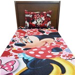Kit Colcha Bouti Infantil Dupla Face - Minnie - Lepper