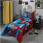 Kit Colcha Solteiro Superman 07 2 Peça - 100% Algodão - Dohler
