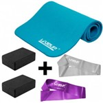 Kit Colchonete para Pilates + 2 Mini Bands + 2 Blocos de Apoio Liveup