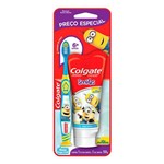 Kit Colgate Minios Escova Dental + Creme Dental