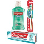 Kit Colgate Oral Care Escova 360 + Plax 250ml + Creme Dental Sensitive