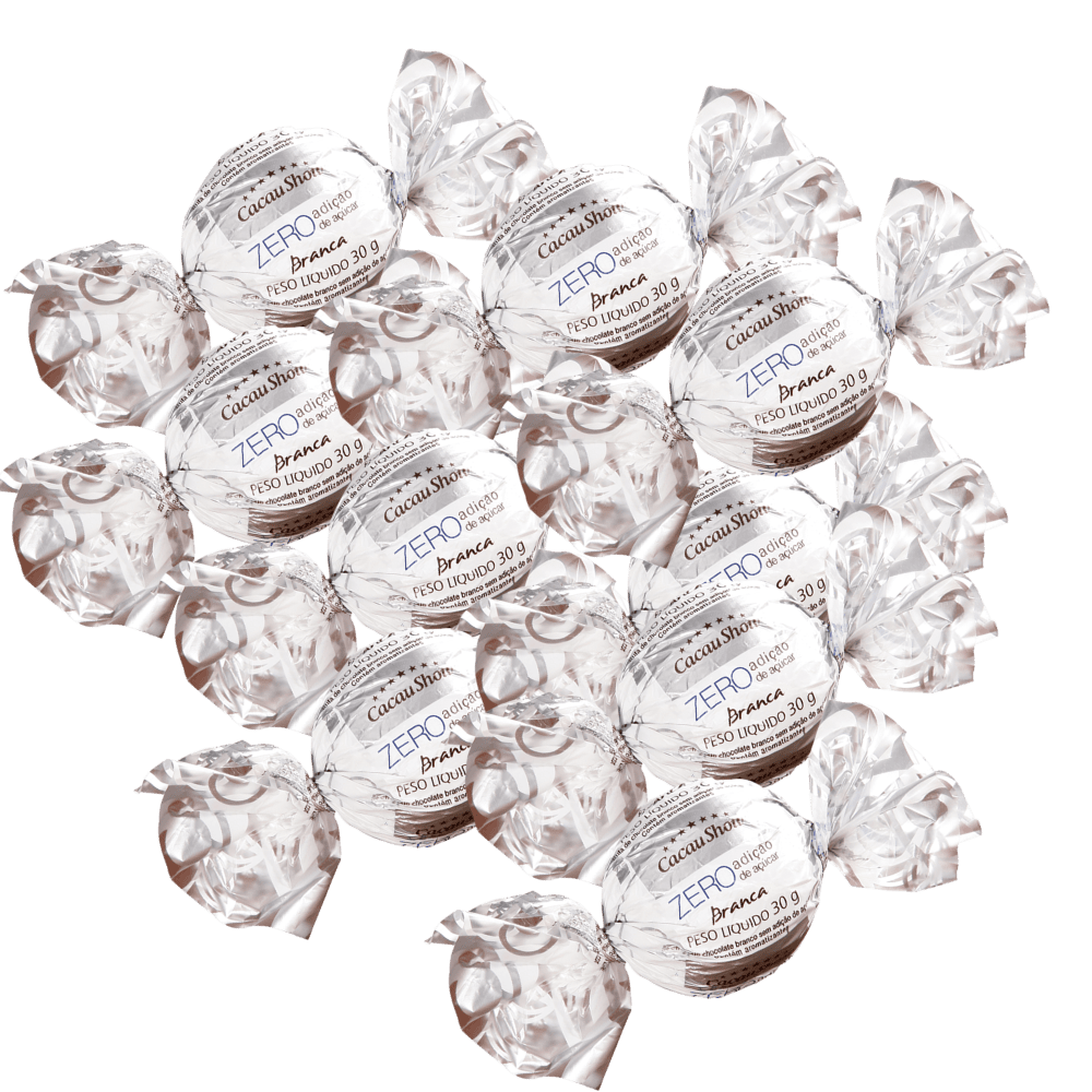 Kit com 140 Trufas Branco Zero Açúcar