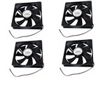 Kit com 4 Cooler Ventoinha Fan 120x120x25mm 12 Volts
