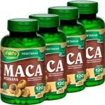 Kit com 4 Frascos de Maca Peruana com Vitamina C e Zinco Unilife 120 Capsulas 550mg