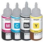 Kit com 4 Refis de Tinta Preto e Coloridos T664120 T664220 T664320 T664420 Epson