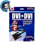 Kit com 5 Cabos DVI para DVI, 1 Metro - Cirilo Cabos
