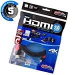 Kit com 5 Cabos MICRO HDMI para HDMI 2.0, Ultra HD, 4K, 3D, 1 Metro
