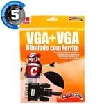 Kit com 5 Cabos VGA Blindado com Ferrite, 2 Metros - Cirilo Cabos