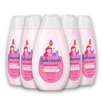 Kit com 5 Condicionador JOHNSON'S Baby Gotas de Brilho 200ml